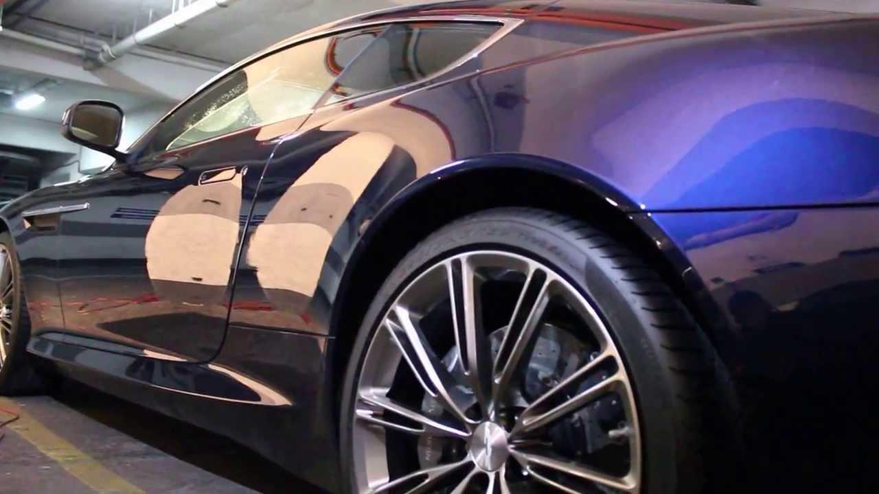 Aston Martin Virage Detailing Y Correccion De Pintura Sellado Con Deep  Crystal Coating De Meguiars.