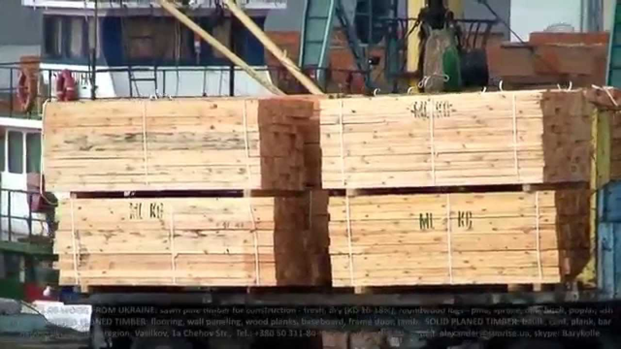 Exports of fresh sawn pine timber lumber from ukraine