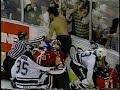 Derian Hatcher vs Chris Chelios & Steve Smith vs Shane Churla / Stars vs Blackhawks Brawl 1995