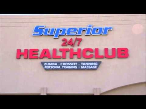 Superior Health Club Outside Sign View