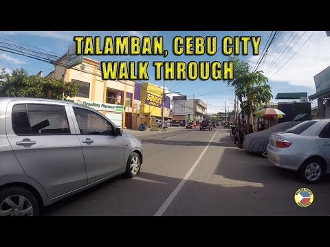 Talamban, Cebu City Walk Through. Village People Philippines.