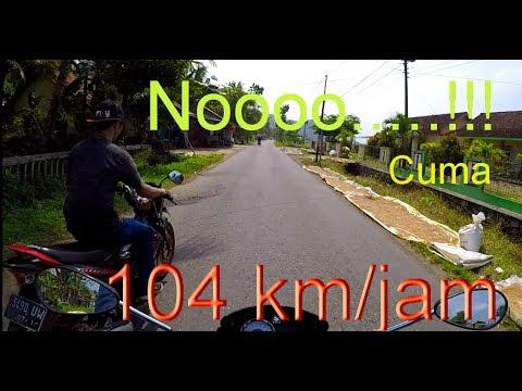 Top Speed Suzuki Satria FU Cuma 104 km per jam Oh Noooooo     !!!!!