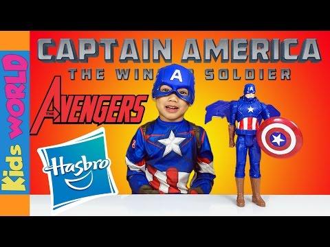 Captain America | Hasbro Avengers Toy Review | Charlie's Kids World