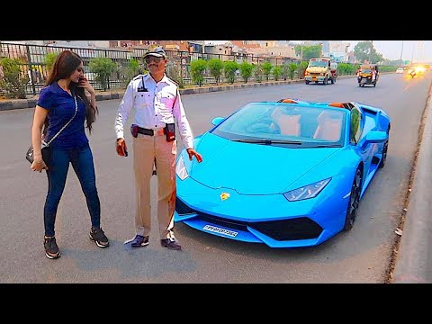 India Police pulled me over in a Lamborghini ...