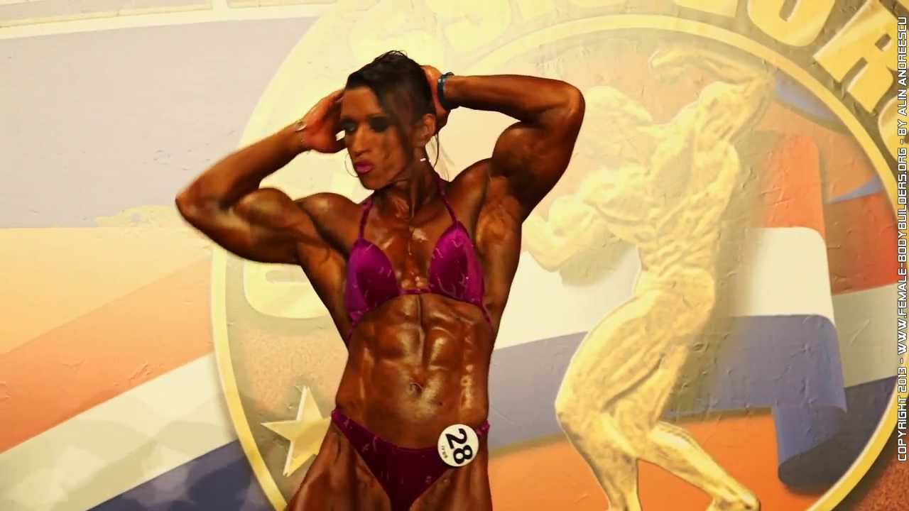 3 female bodybuilders play with each other 10