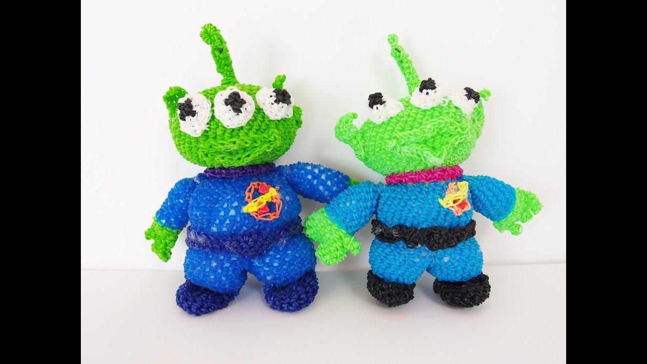 Amigurumi Toy Story : Toy Story Alien Martian Rainbow Loom Bands Amigurumi ...
