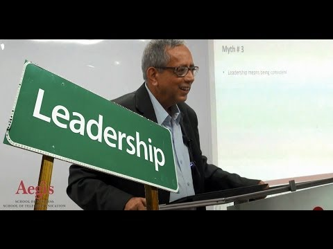 Dr. Abhijit Gangopadhyay, Honorary Dean, Aegis School of Business's Master Class on Leadership