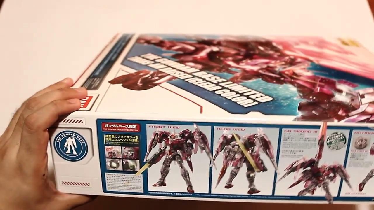 The Gundam Base Limited Mg 1 100 Trans Am Raiser Clear Color Rx78 2 Verka 114215 Unboxing