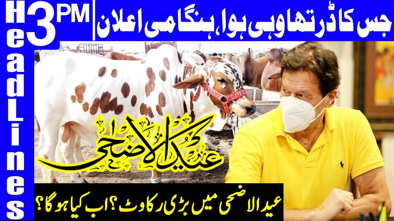 Shocking Decision for Eid ul Adha? | Headlines 3 PM | 14 July 2020 | Dunya News | DN1