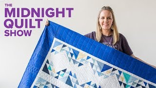 """""""Santorini"""" Triangle Strip Quilt 