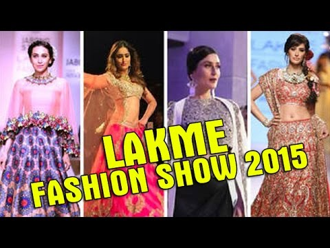 Lakme Fashion Week 2015   Top Bollywood Actresses Ramp Walk   Bollywood Showstoppers