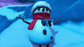 How To Shoot While INSIDE A Snowman | NEW Fortnite Glitch