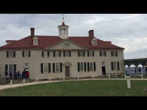 George Washington Mount Vernon. George Washington's house. First president of The United States.