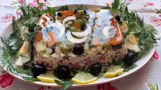Салат - желе - простой, вкусный, красивый...