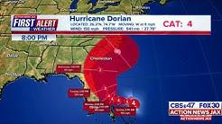 HURRICANE DORIAN: CBS47/FOX30 Action News Jax, late night newscast, 8/31/19