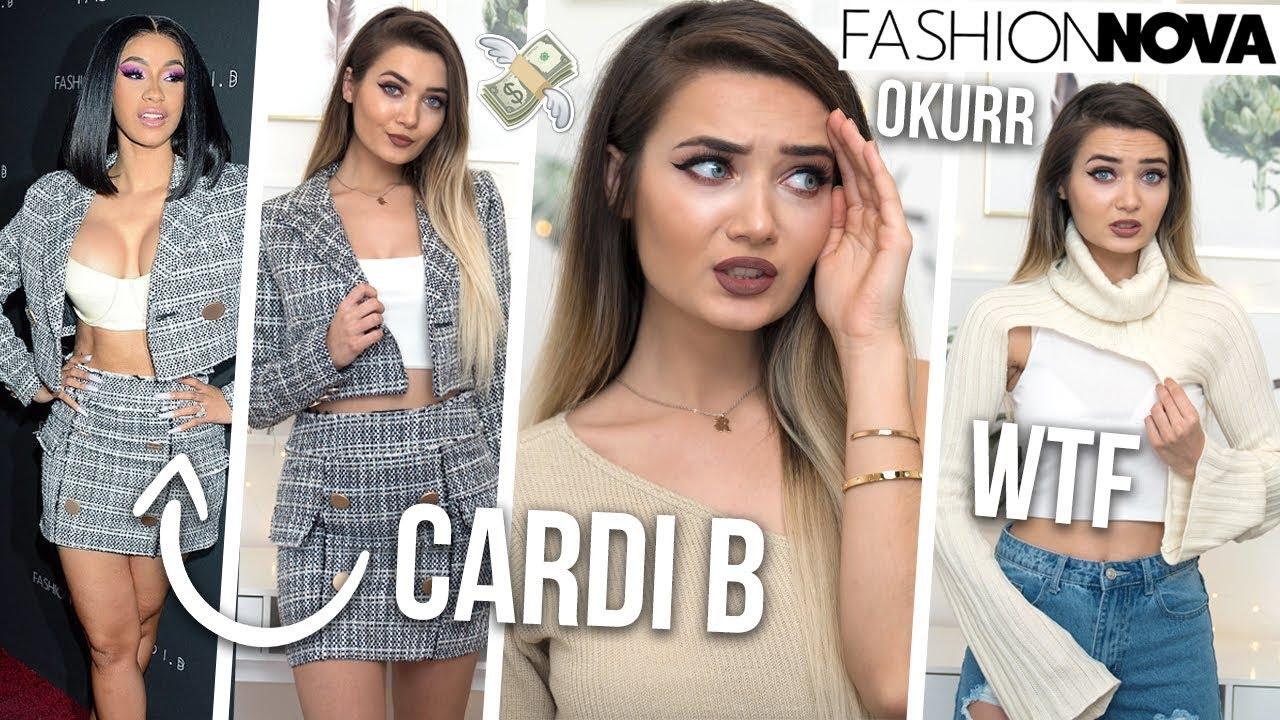 f2ec07f6b66 TRYING ON CARDI B X FASHION NOVA CLOTHING... SIS HOW MUCH!  - YouTube