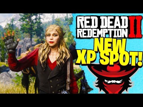 *NEW* XP SPOT IN RED DEAD REDEMPTION 2 ONLINE | RDR2 Best Way to Level Up Fast! thumbnail
