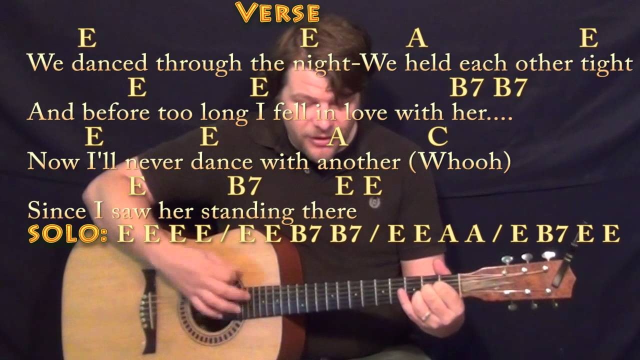 I Saw Her Standing There The Beatles Strum Guitar Cover Lesson with  Chords/Lyrics