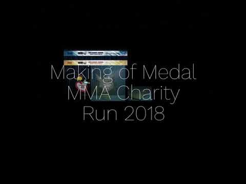 The making of MMA Charity Run medal By Medal Depot