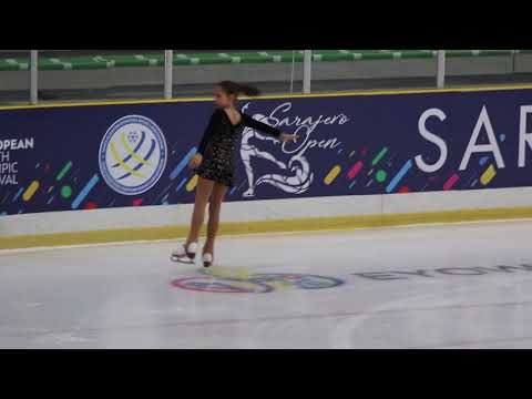 "Mia Milinković, ""Sarajevo Open 2018"" - Advanced Novices Girls, kratki program, 01.03.2018."