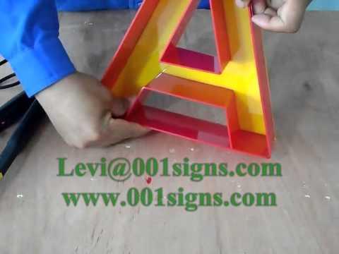 LED CHANNEL LETTER-Acrylic Letter Bender-Plastic Bender-3D Channel Letter