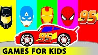 Kırmızı Kamyon ve Araba Komik Yarış Çocuklar için Renkleri w Çocuklar için Çizgi film