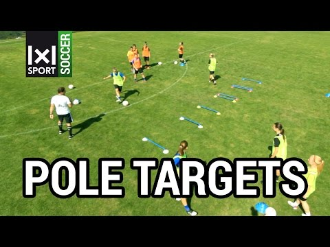 "FC BAYERN MUNICH SOCCER DRILL:  ""Pole Targets"": Controlling & Passing the Ball"
