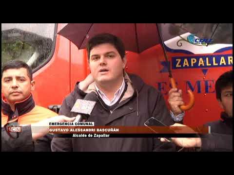 CONTROLAN EMERGENCIAS OCURRIDAS POR EL SISTEMA FRONTAL EN ZAPALLAR