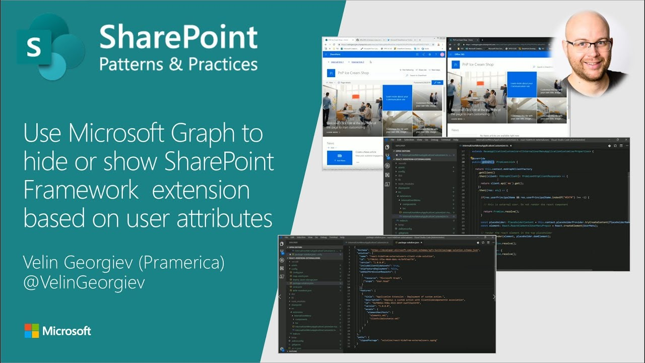 Community demo - Use Microsoft Graph to hide or show SPFx extension based  on user attributes