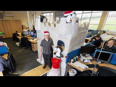Edison - Man's Epic Winter Wonderland Desk Decorations