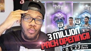 NBA 2k17 MyTEAM - 3Million VC Pack Opening! New Diamond Anthony Davis & Westbrook! Was it Worth it?