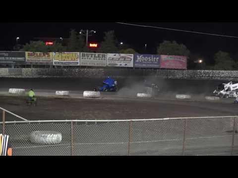 First part of a thrilling B main at Petaluma Speedway. - dirt track racing video image