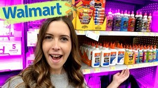 SHOPPING FOR SLIME SUPPLIES AT WALMART!