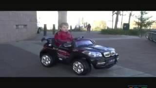 видео: детский автомобиль на аккумуляторе под BMW X6