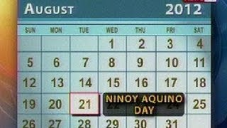 BT: Regular Holiday sa Lunes at special non-working holiday sa Martes