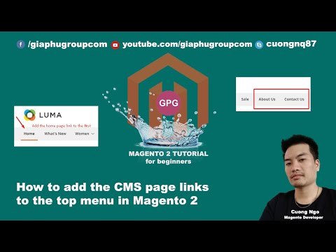 How to add the CMS page links to the top menu in Magento 2