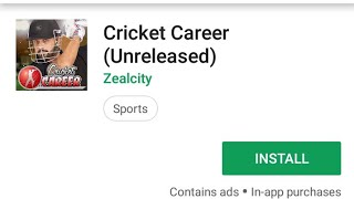 Cricket career  2018 live on playstore download now