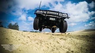 Humvee Jump and 6x6 Drifting