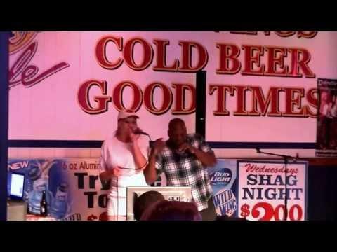 Jimmy Joe karaoke at Wild Wings.Leo Davis,Stand By Me..