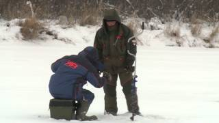 Щука на балансир со льда . Ловля щуки в Новосибирске