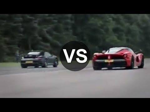 Ferrari LaFerrari Vs Porsche 911 Turbo S Drag Race - DRAGINFO
