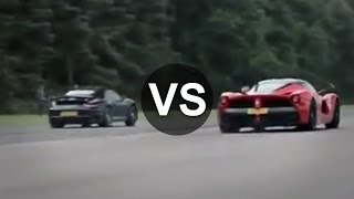 Ferrari LaFerrari Vs Porsche 911 Turbo S Drag Race - DRAGINFO