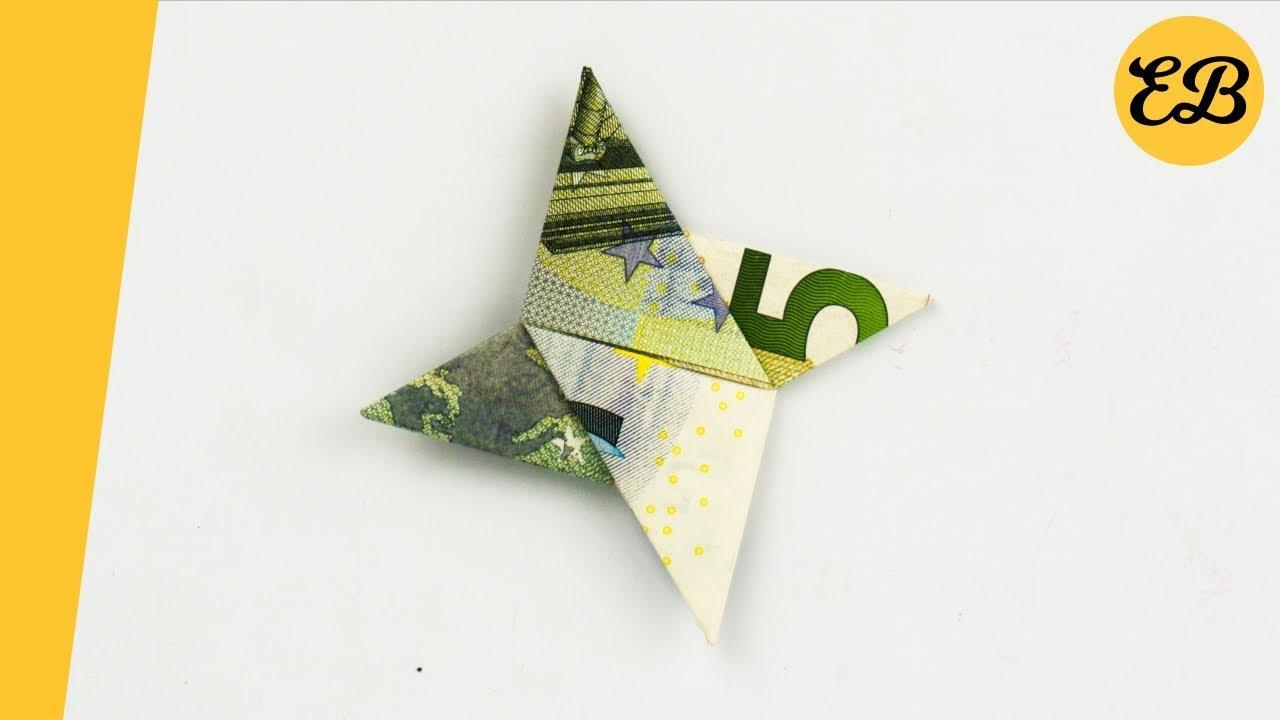 Geldschein Falten Wurfstern Geldscheine Falten Stern Origami Youtube