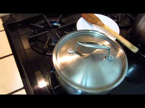 Cooking - roasted couscous with green bean and onion