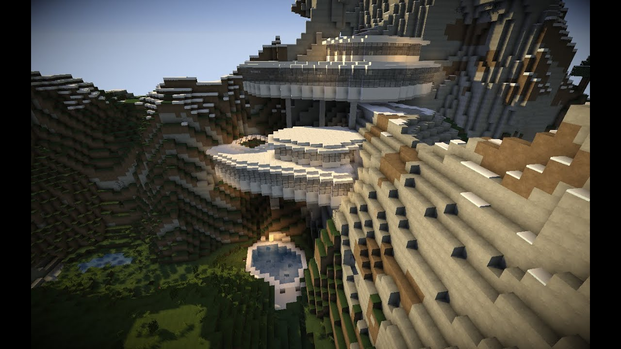 Minecraft Mountain Mansion TimeLapse YouTube