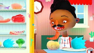 Toca Kitchen Funny Making Food - Kids game Review