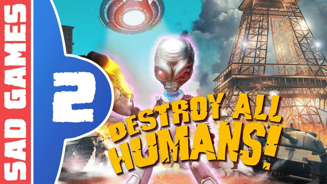 Lets Play Destroy All Humans Part  Busty Beauty Breakdown