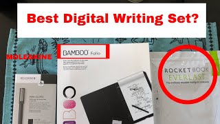 Digital Hand Writing Recognition - Moleskine , Bamboo Folio, Rocketbook