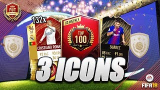 3 ICONS, 132 RED INFORM PLAYERS AND 3 TOTW PACKS!! FUT CHAMPIONS MONTHLY REWARDS!!