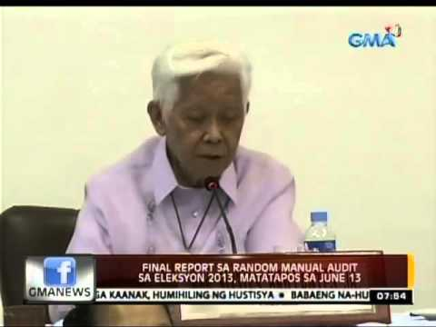24 Oras: Final report sa random manual audit sa Eleksyon , matatapos ...